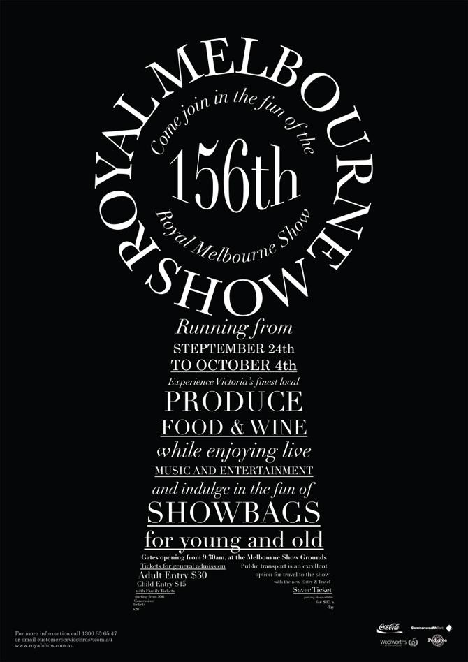 Melbourne show poster tegan nat design